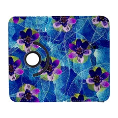 Purple Flowers Samsung Galaxy S  Iii Flip 360 Case by DanaeStudio