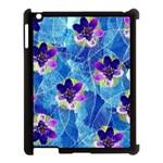Purple Flowers Apple iPad 3/4 Case (Black)