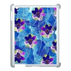 Purple Flowers Apple iPad 3/4 Case (White)