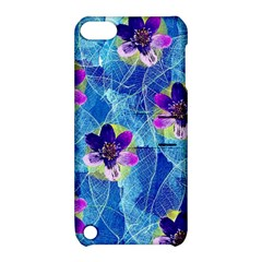 Purple Flowers Apple Ipod Touch 5 Hardshell Case With Stand by DanaeStudio