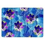 Purple Flowers Samsung Galaxy Tab 10.1  P7500 Flip Case