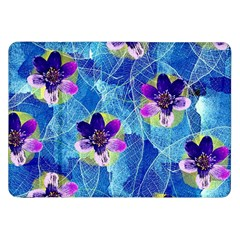Purple Flowers Samsung Galaxy Tab 8 9  P7300 Flip Case by DanaeStudio
