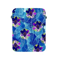 Purple Flowers Apple Ipad 2/3/4 Protective Soft Cases by DanaeStudio