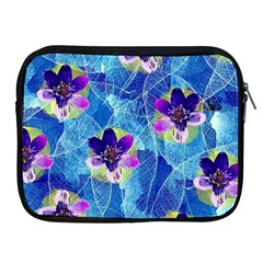 Purple Flowers Apple iPad 2/3/4 Zipper Cases