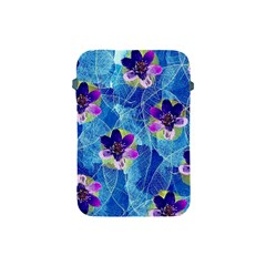 Purple Flowers Apple Ipad Mini Protective Soft Cases by DanaeStudio