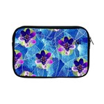 Purple Flowers Apple iPad Mini Zipper Cases Front