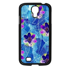 Purple Flowers Samsung Galaxy S4 I9500/ I9505 Case (black) by DanaeStudio