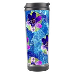 Purple Flowers Travel Tumbler
