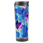 Purple Flowers Travel Tumbler Center