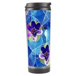 Purple Flowers Travel Tumbler Right
