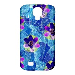 Purple Flowers Samsung Galaxy S4 Classic Hardshell Case (pc+silicone) by DanaeStudio