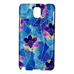 Purple Flowers Samsung Galaxy Note 3 N9005 Hardshell Case by DanaeStudio