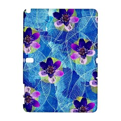 Purple Flowers Samsung Galaxy Note 10 1 (p600) Hardshell Case by DanaeStudio