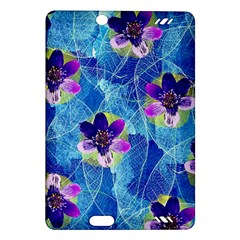 Purple Flowers Amazon Kindle Fire Hd (2013) Hardshell Case by DanaeStudio
