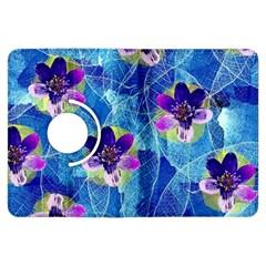 Purple Flowers Kindle Fire Hdx Flip 360 Case by DanaeStudio