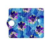 Purple Flowers Kindle Fire HDX 8.9  Flip 360 Case