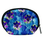 Purple Flowers Accessory Pouches (Medium)  Back