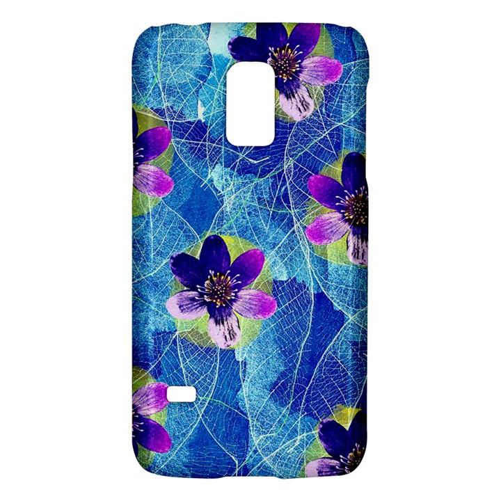 Purple Flowers Galaxy S5 Mini