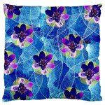 Purple Flowers Standard Flano Cushion Case (Two Sides) Front