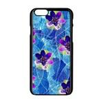Purple Flowers Apple iPhone 6/6S Black Enamel Case
