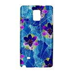 Purple Flowers Samsung Galaxy Note 4 Hardshell Case
