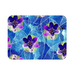 Purple Flowers Double Sided Flano Blanket (mini)  by DanaeStudio
