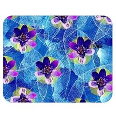 Purple Flowers Double Sided Flano Blanket (medium)