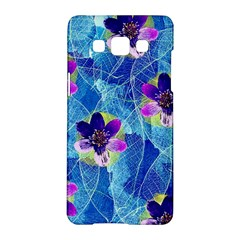 Purple Flowers Samsung Galaxy A5 Hardshell Case  by DanaeStudio