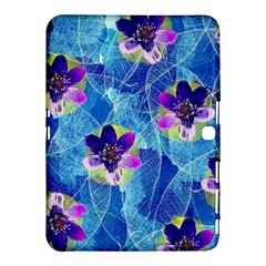 Purple Flowers Samsung Galaxy Tab 4 (10 1 ) Hardshell Case