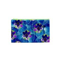 Purple Flowers Cosmetic Bag (XS)