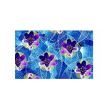 Purple Flowers Satin Wrap Front
