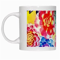 Colorful Succulents White Mugs by DanaeStudio
