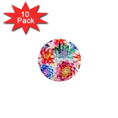 Colorful Succulents 1  Mini Magnet (10 Pack)  by DanaeStudio