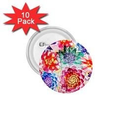 Colorful Succulents 1 75  Buttons (10 Pack) by DanaeStudio