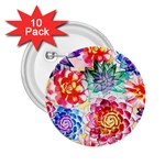 Colorful Succulents 2.25  Buttons (10 pack)