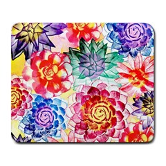 Colorful Succulents Large Mousepads by DanaeStudio