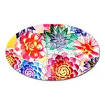 Colorful Succulents Oval Magnet Front