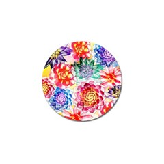 Colorful Succulents Golf Ball Marker (10 Pack) by DanaeStudio