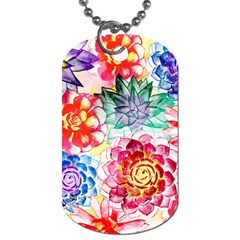 Colorful Succulents Dog Tag (two Sides) by DanaeStudio