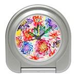 Colorful Succulents Travel Alarm Clocks