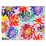 Colorful Succulents Rectangular Jigsaw Puzzl Front