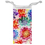 Colorful Succulents Jewelry Bags Front