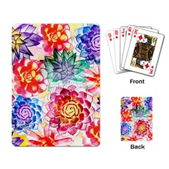 Colorful Succulents Playing Card by DanaeStudio