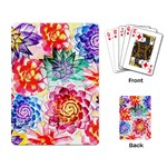 Colorful Succulents Playing Card Back