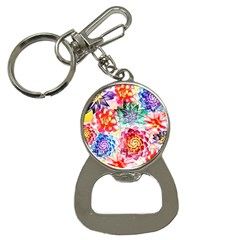 Colorful Succulents Bottle Opener Key Chains by DanaeStudio