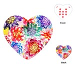 Colorful Succulents Playing Cards (Heart)  Front