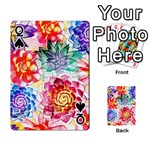 Colorful Succulents Playing Cards 54 Designs  Front - SpadeQ