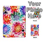 Colorful Succulents Playing Cards 54 Designs  Front - Spade6