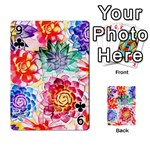 Colorful Succulents Playing Cards 54 Designs  Front - Club9