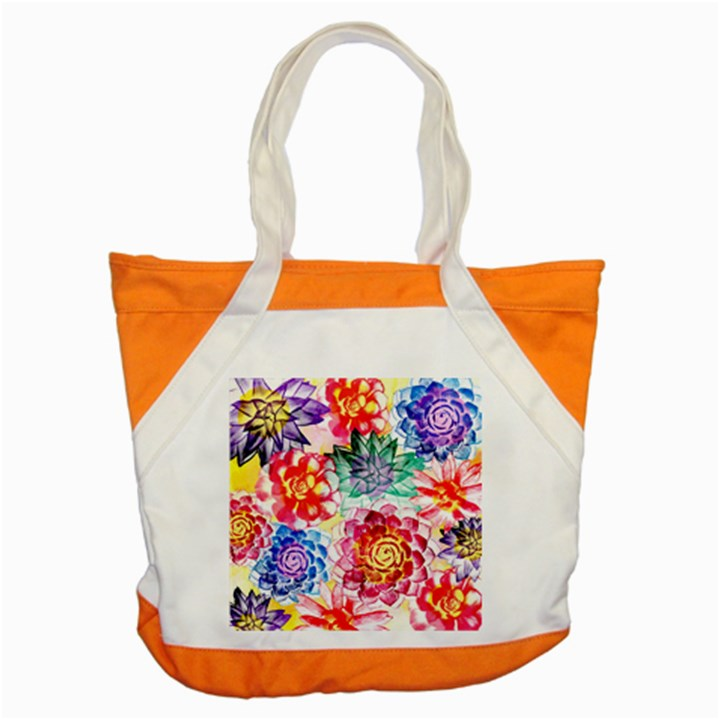 Colorful Succulents Accent Tote Bag